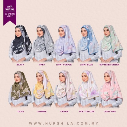 AVA SHAWL PRINTED IN 10 COLOURS